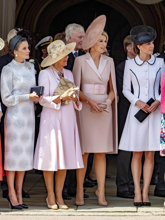 Salt: главное здесь, остальное по вкусу - Кейт Миддлтон, королевы Летиция, Максима и Елизавета II на церемонии Ордена Подвязки