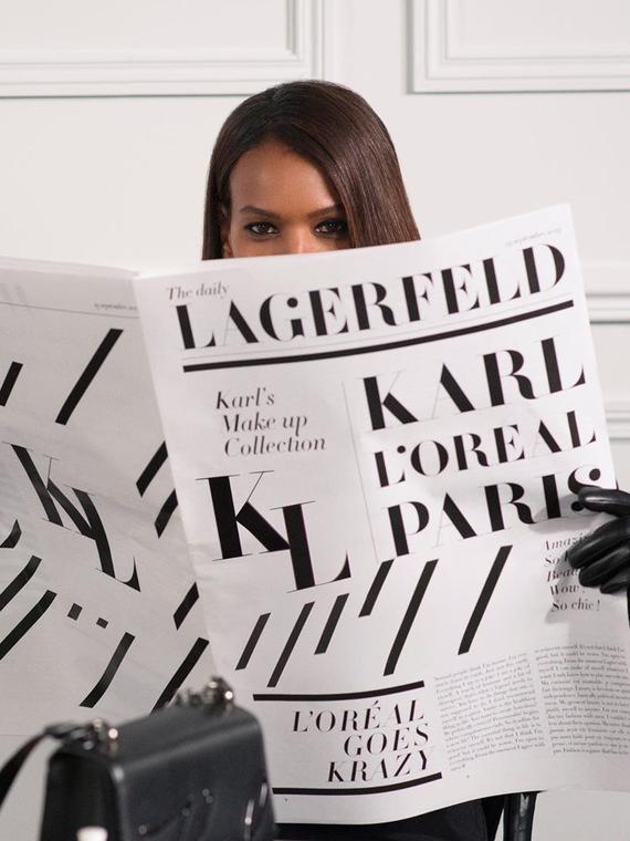 Salt: главное здесь, остальное по вкусу - L'Oréal Paris и Karl Lagerfeld выпустят линейку косметики