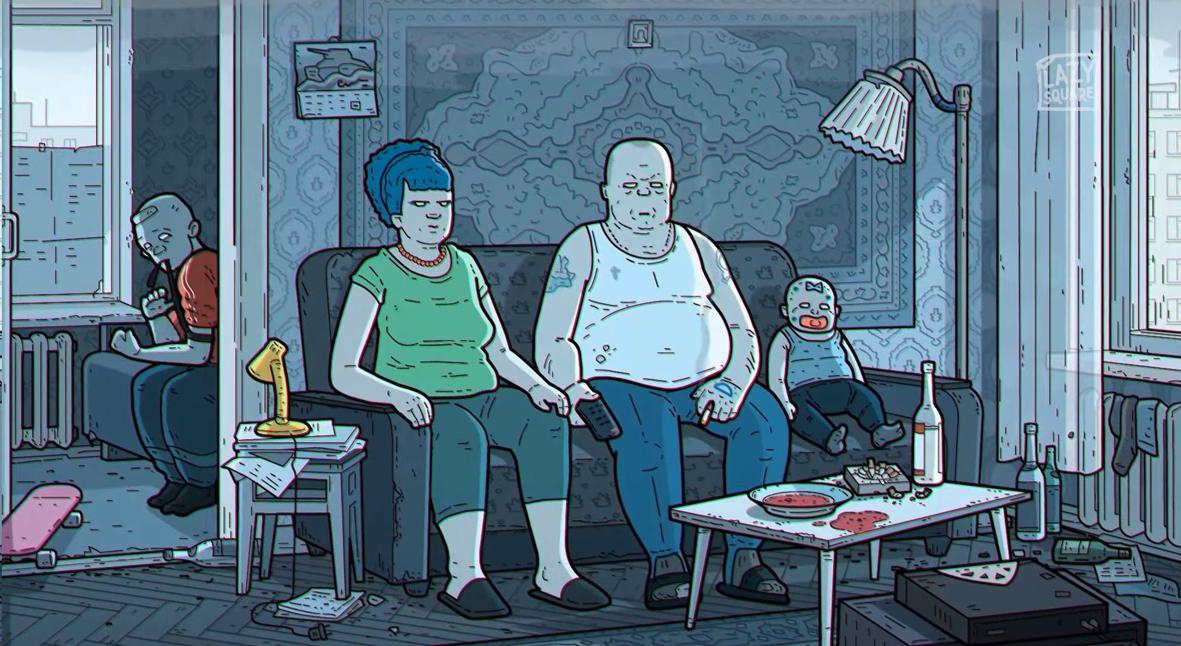 Salt: главное здесь, остальное по вкусу - В Сети появилась мрачная российская версия заставки мультсериала «Симпсоны»