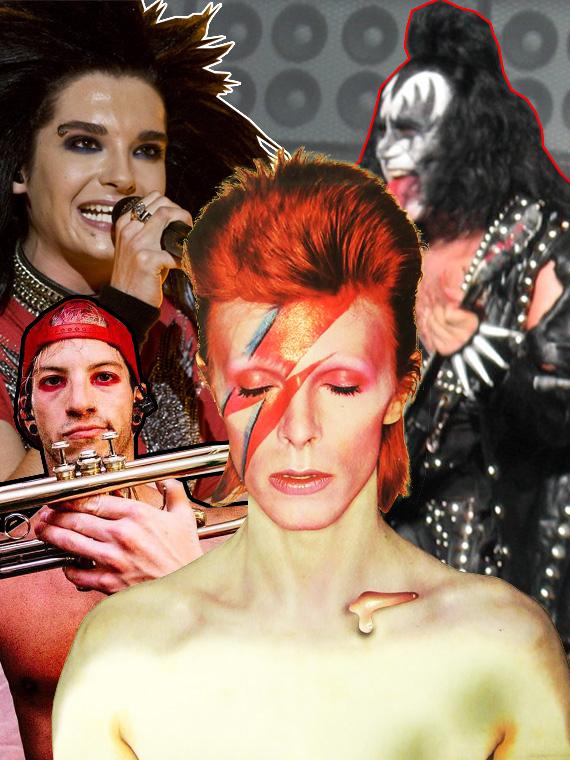 Salt: главное здесь, остальное по вкусу - Kiss, Дэвид Боуи, Tokio Hotel: история мужского макияжа в музыке