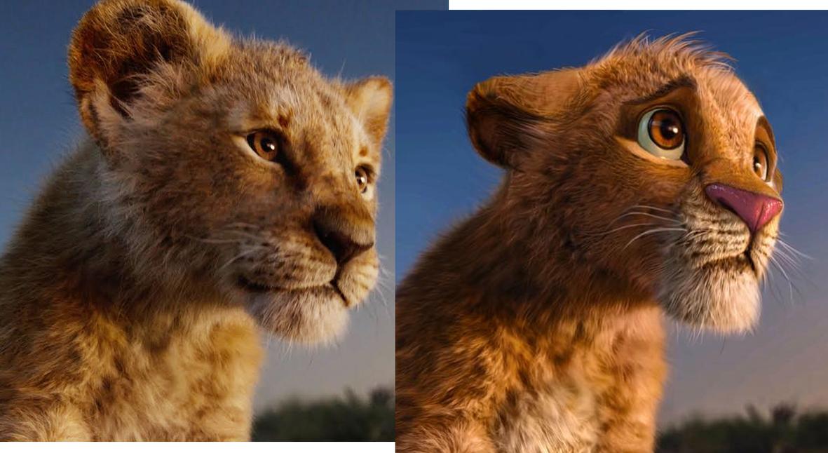 Salt: главное здесь, остальное по вкусу - Художник перерисовал персонажей ремейка «Короля Льва» в стиле мультфильма