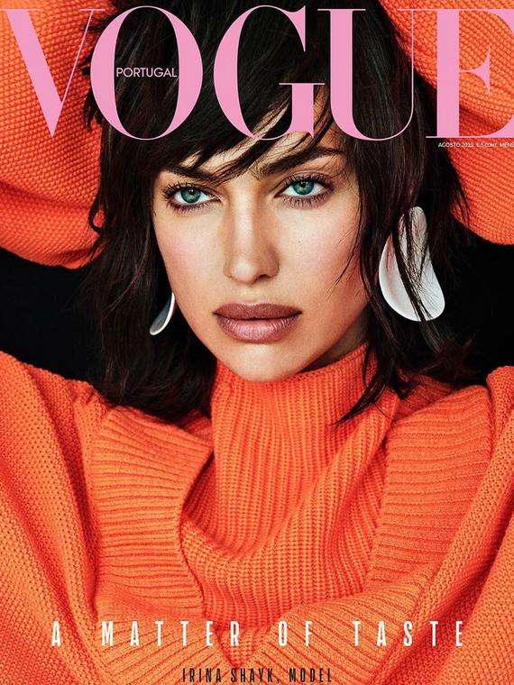 Salt: главное здесь, остальное по вкусу - Селеста Барбер спародировала Ирину Шейк на обложке португальского Vogue
