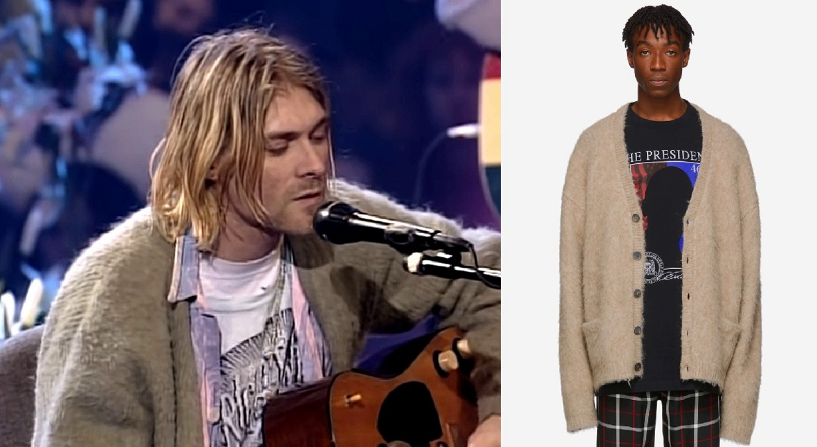 Salt: главное здесь, остальное по вкусу - Vetements выпустил копию культового кардигана Курта Кобейна с выступления на MTV Unplugged