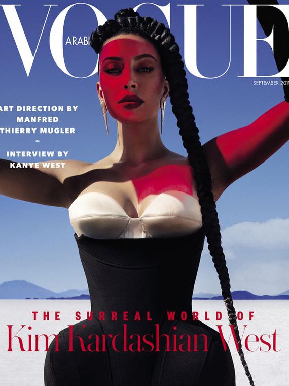 Salt: главное здесь, остальное по вкусу - Ким Кардашьян снялась для обложки Vogue Arabia и дала интервью Канье Уэсту