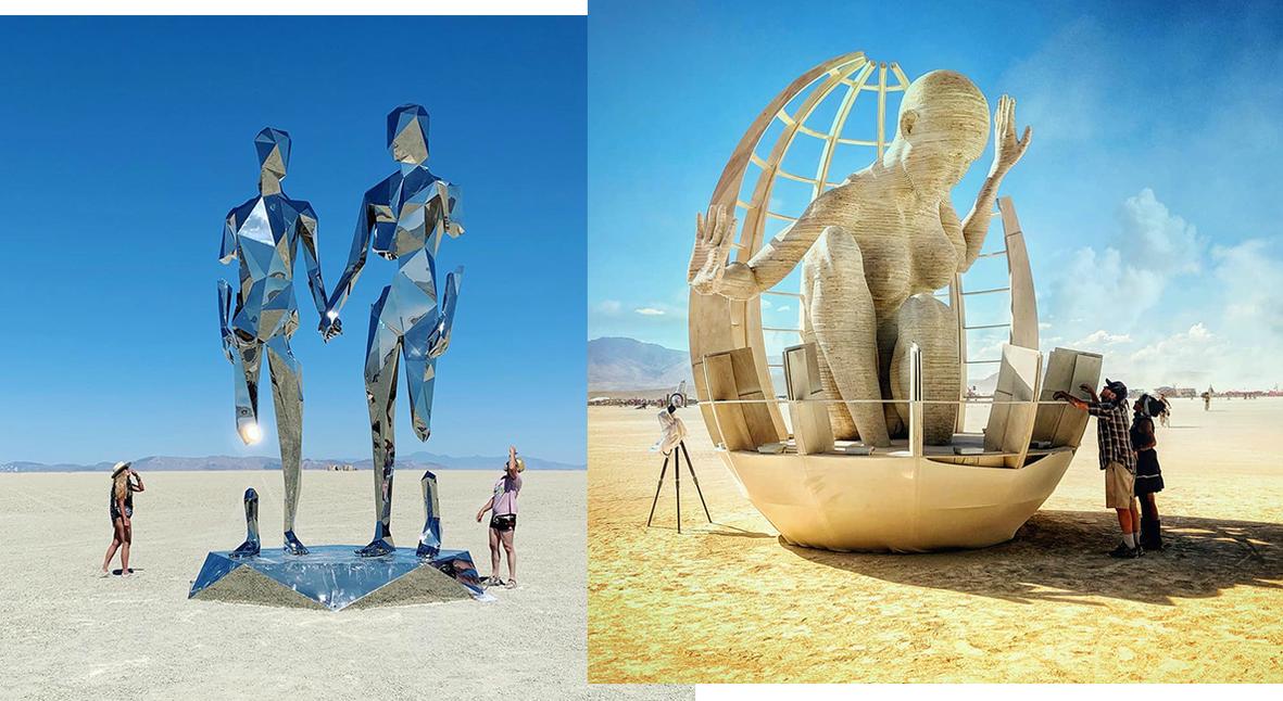 Salt: главное здесь, остальное по вкусу - Зеркальные скульптуры и огненный Пегас: самые интересные арт-объекты фестиваля Burning Man