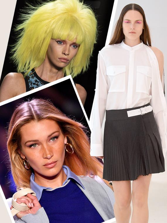 Salt: главное здесь, остальное по вкусу - Стрелки, стразы и неоновые парики: лучшие бьюти-образы Недели моды в Нью-Йорке