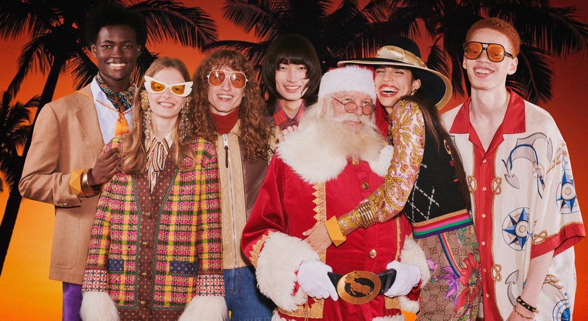 Salt: главное здесь, остальное по вкусу - Песочный снеговик и Санта в шортах: Gucci показали праздничную рекламную кампанию