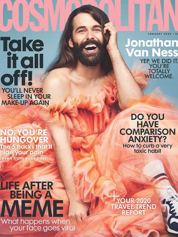Salt: главное здесь, остальное по вкусу - Звезда шоу Queer Eye Джонатан ван Несс снялся для обложки британского Cosmopolitan