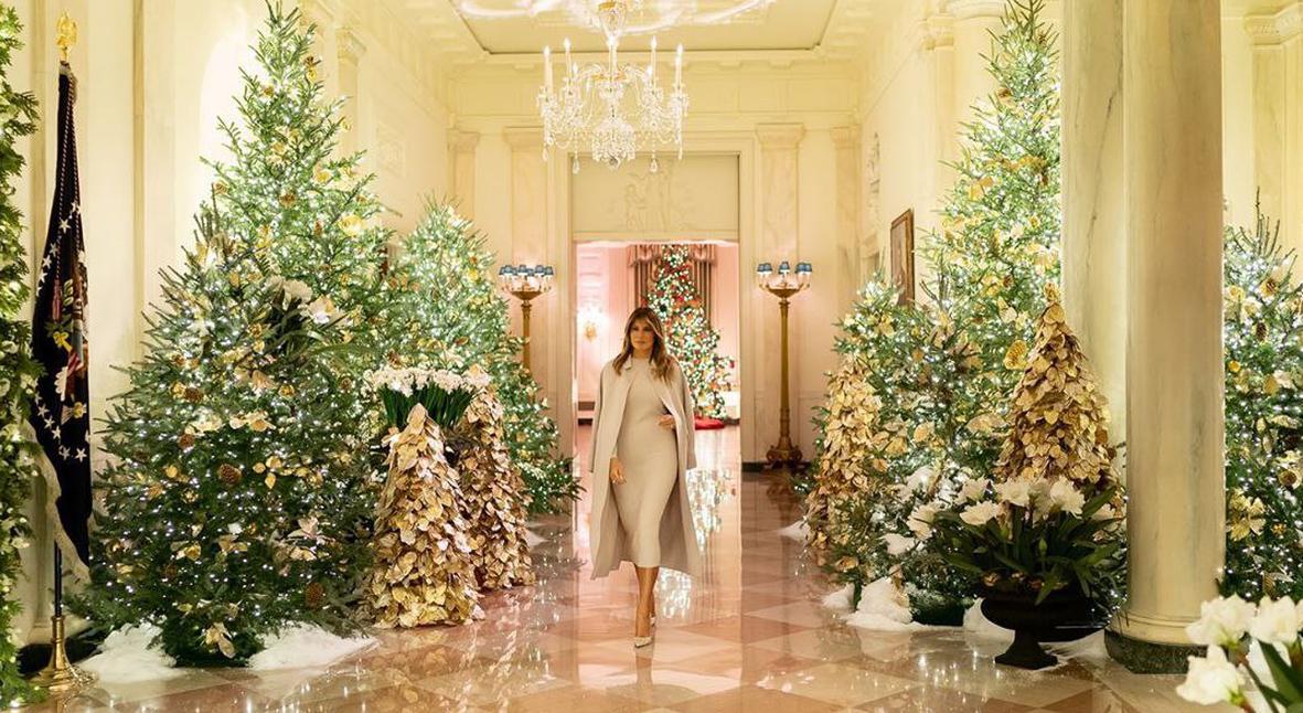 Salt: главное здесь, остальное по вкусу - «Дух Америки»: Мелания Трамп показала, как Белый дом украсили к Рождеству