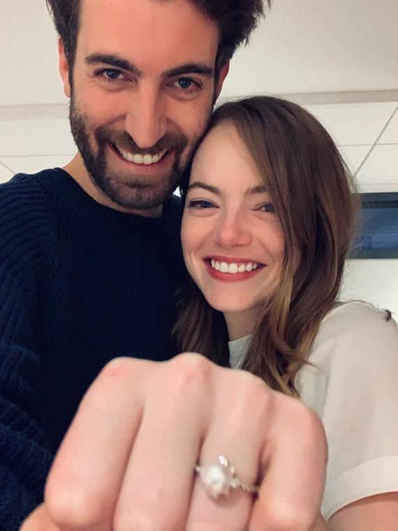 Salt: главное здесь, остальное по вкусу - Эмма Стоун выходит замуж — актриса показала помолвочное кольцо