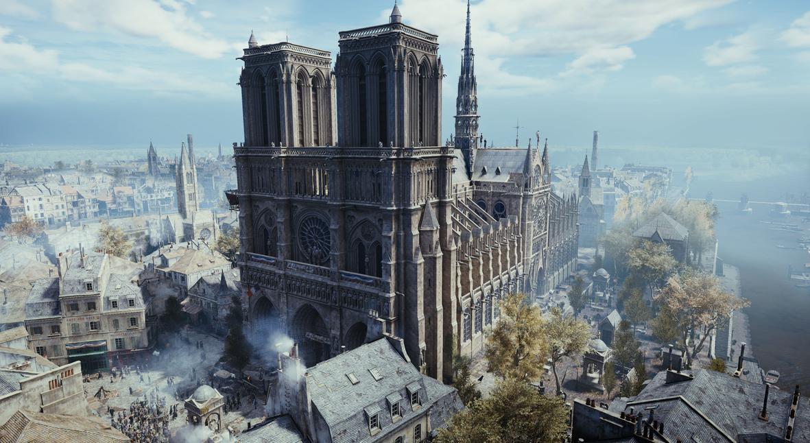Salt: главное здесь, остальное по вкусу - Видеоигра Assassin's Creed Unity поможет восстановить Нотр-Дам