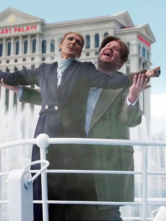 Salt: главное здесь, остальное по вкусу - Селин Дион и Джеймс Корден повторили знаменитую сцену из фильма «Титаник»