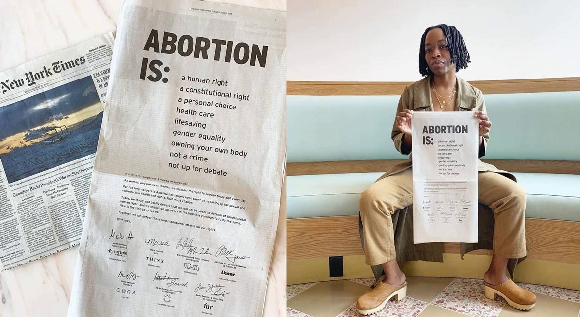 Salt: главное здесь, остальное по вкусу - Основательницы семи брендов высказались против запрета абортов на рекламной полосе The New York Times