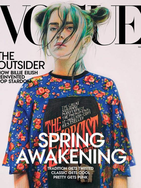 Salt: главное здесь, остальное по вкусу - Школьница из Пермского края нарисовала обложку для американского Vogue с Билли Айлиш