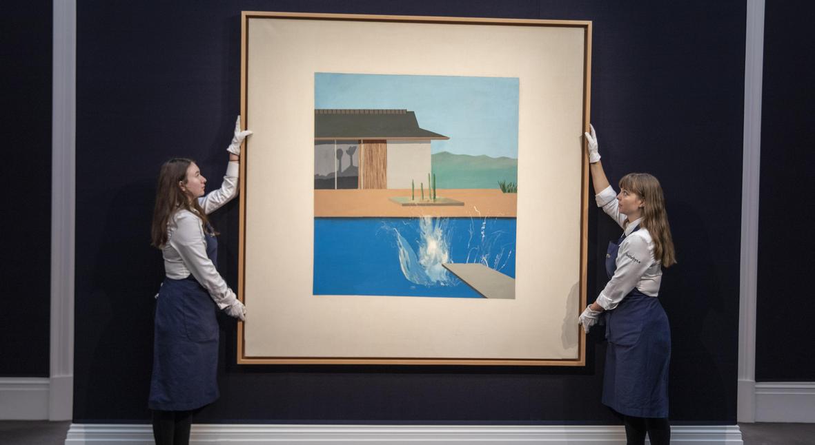 Salt: главное здесь, остальное по вкусу - Картину Дэвида Хокни «Всплеск» продали на аукционе почти за $30 миллионов