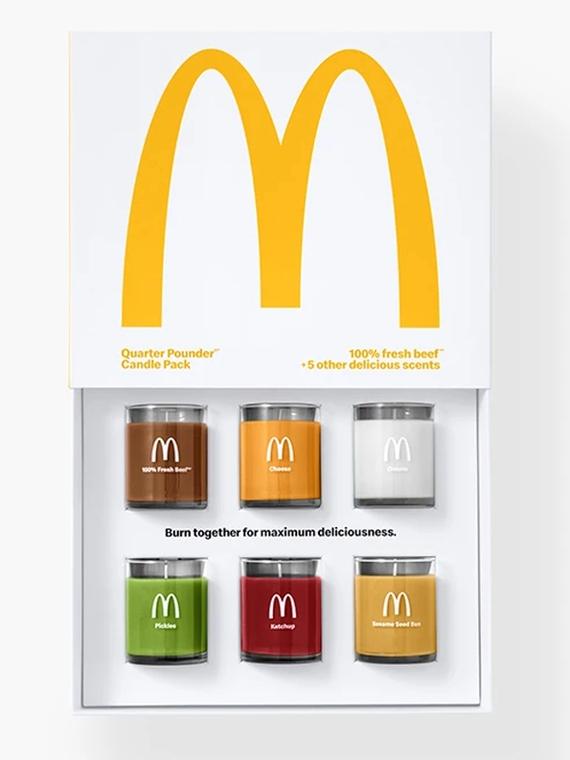 Salt: главное здесь, остальное по вкусу - «Огурцы, салат и лук»: McDonald's выпустил свечи с ароматами ингредиентов «Роял Чизбургера»