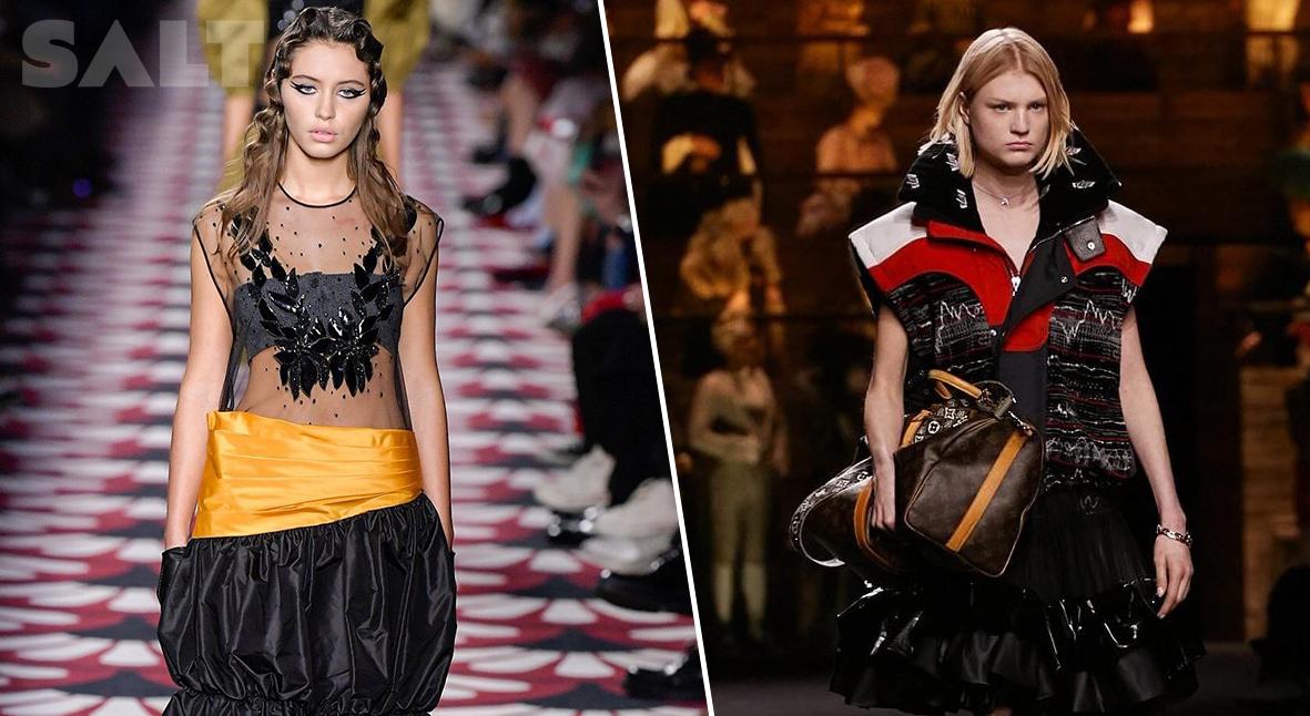 Salt: главное здесь, остальное по вкусу - Неделя моды в Париже: дочь Джуда Лоу на подиуме Miu Miu и Louis Vuitton в Лувре