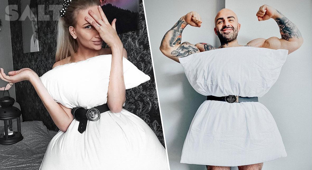 Salt: главное здесь, остальное по вкусу - Подушки вместо платьев: в Instagram запустили новый модный челлендж