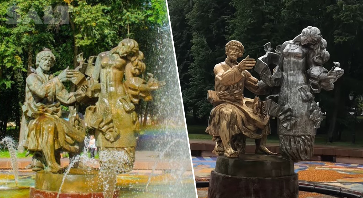 Salt: главное здесь, остальное по вкусу - Новгородец почистил и перекрасил городскую скульптуру — на него завели уголовное дело о вандализме