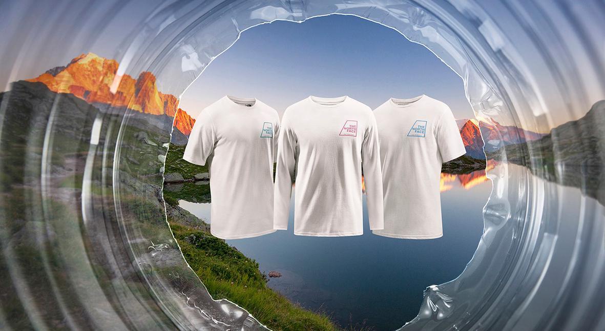 Salt: главное здесь, остальное по вкусу - The North Face создали футболки из 18 тысяч килограммов пластика, собранного в Альпах
